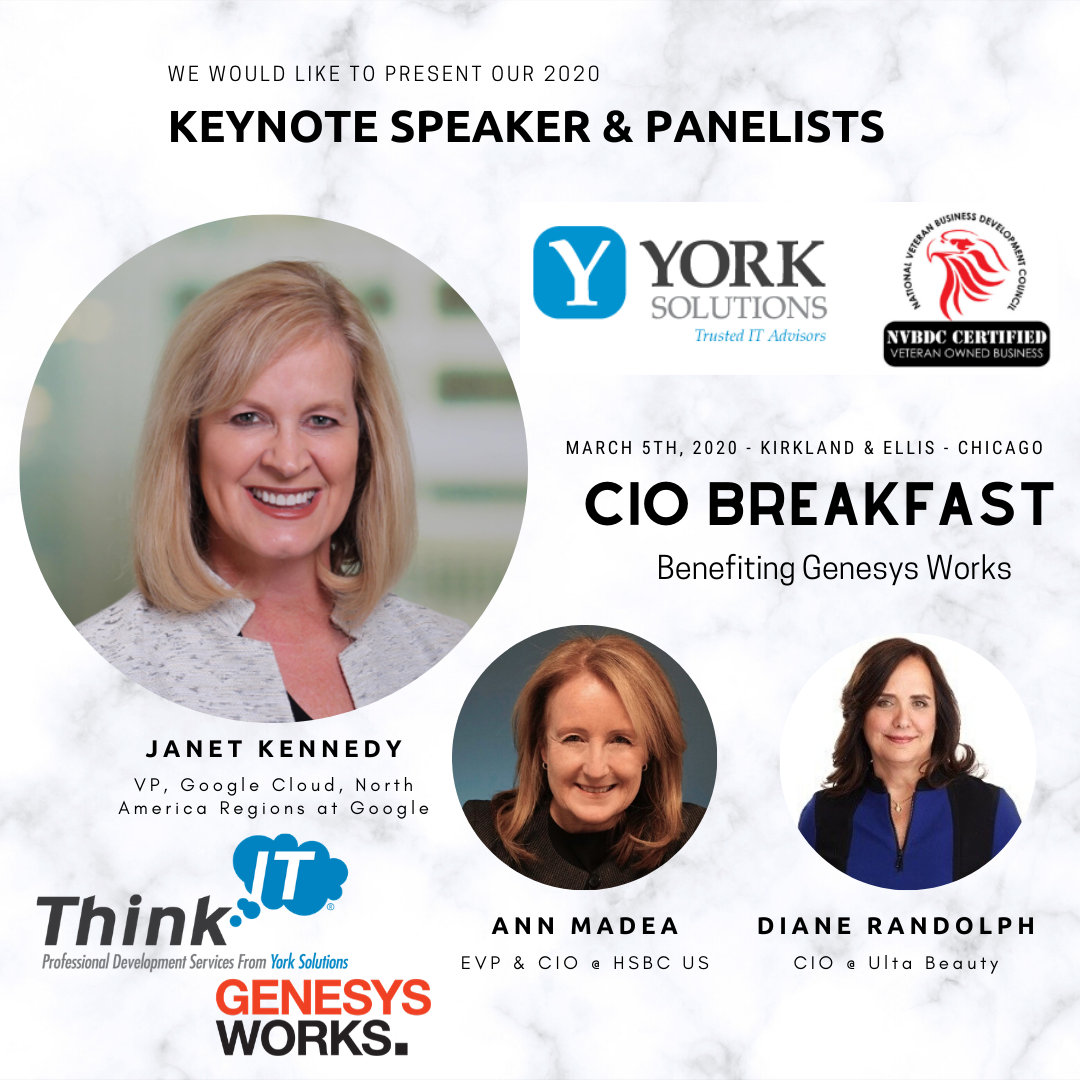 2nd Annual York Solutions CIO Breakfast Benefiting Genesys Works 3